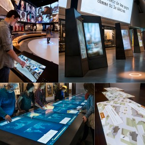 Digital Kiosks, Interactive Tables, Gesture Based Games and Interfaces: The Canadian Museum for Human Rights is the most digitally advanced cultural institution in North America, providing visitor experiences such as interactive kiosks, tables and games, immersive environments, gesture-based interactive exhibits, multimedia presentations and tours via mobile app.
