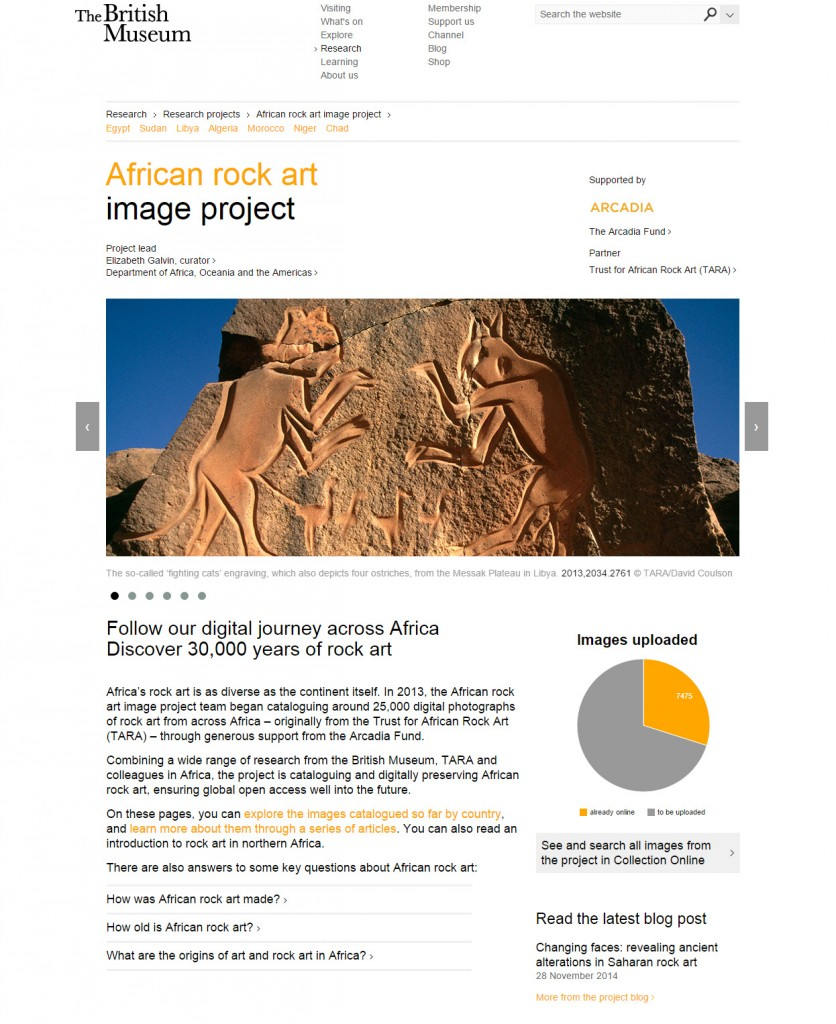 African rock art image project home page