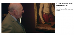 To help make our Moroni exhibition relevant to today's viewers, we brought along one of London's legendary Savile Row tailors to encounter his Renaissance counterpart.