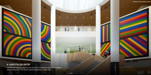 Architectural renderings provide visitors to the site with a preview of what the museum will look like when it reopens in 2016.
