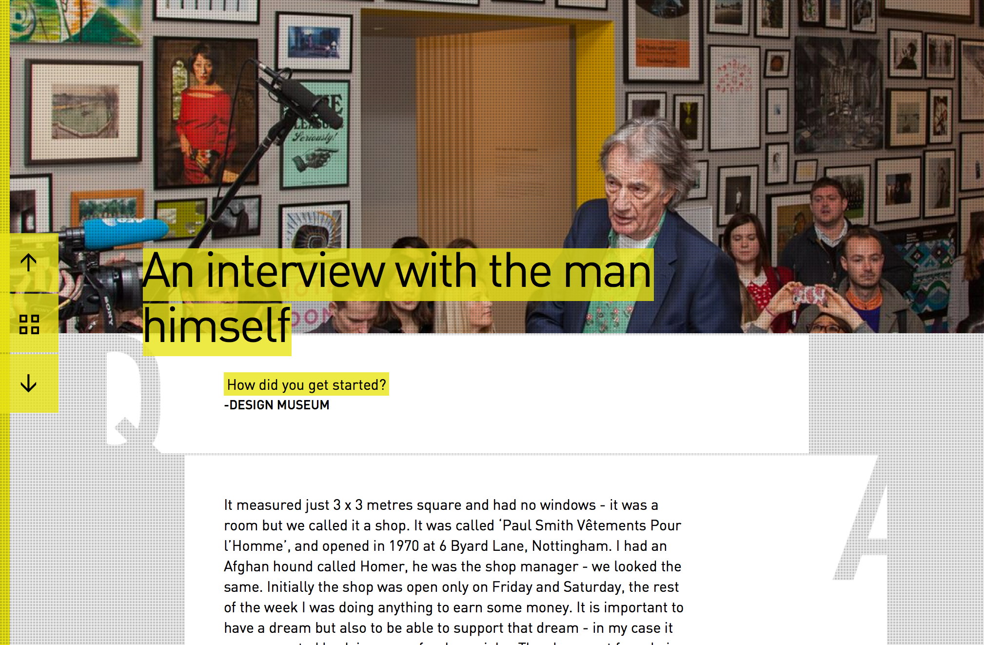 Design Museum Paul Smith interview