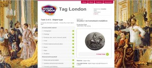Image of Tag London interface page showing an object and a list of object types