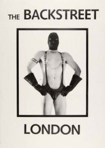 Poster of man wearing leather fetish outfit