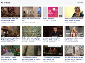 Our Facebook audience enjoy the whole gamut of audiovisual content we produce.