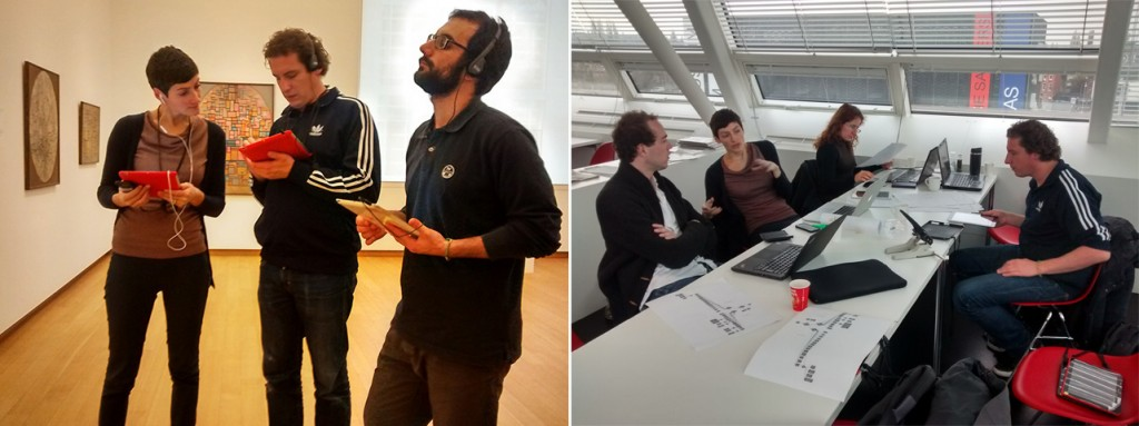 Figure 9. Members of the Stedelijk Museum and the CHESS project collaborating on the creation of interactive guided museum visits.