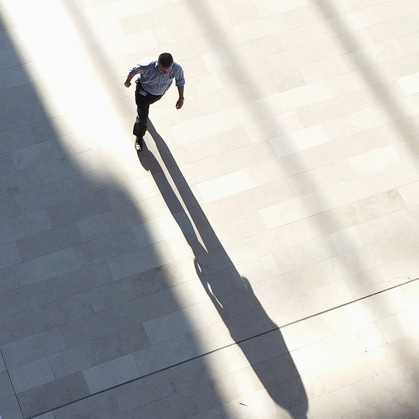Figure 9: In a typical Instagram moment, a museum guard passes below casting a long shadow. Photo by Instagram user @laurenlila (used with permission)