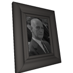 Figure 5: A virtual picture frame belonging to Anne Frank, showing her father Otto Frank.