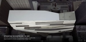 A flythrough video rendering shows how the museum will impact the San Francisco skyline.