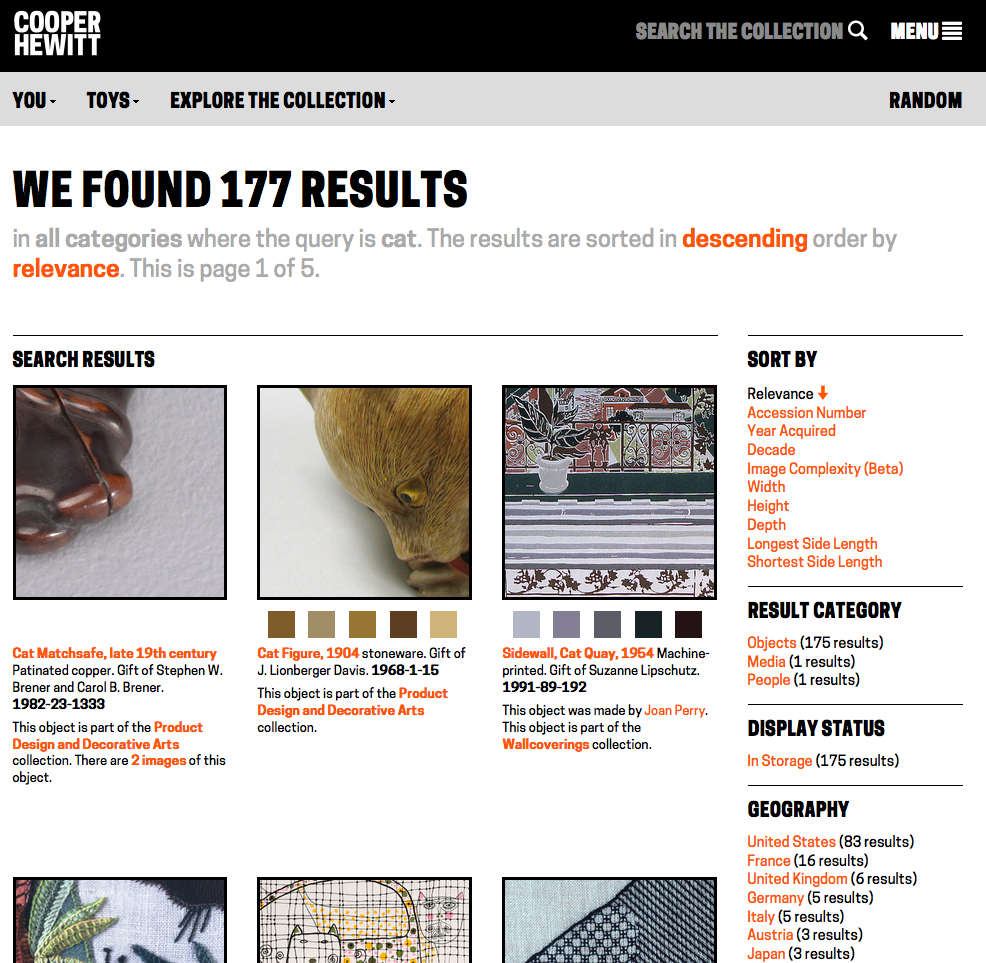 Figure 9, the redesigned search results page