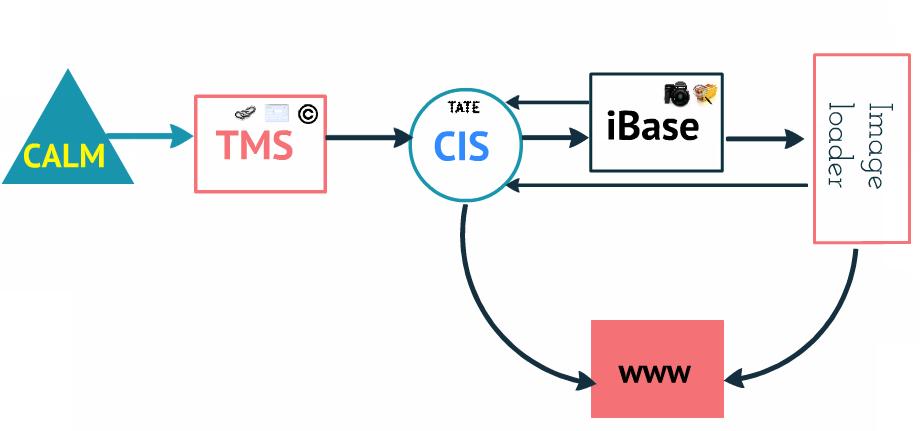 Diagram showing Tate's digitisation process