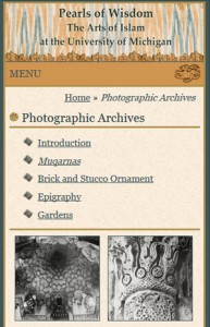 Photo archives page, mobile view