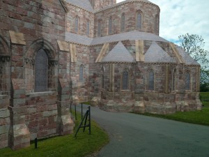 Figure 3: An in-situ visualization of the Croxden Abbey's main church using augmented reality.