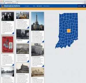 Destination Indiana Map Explorer