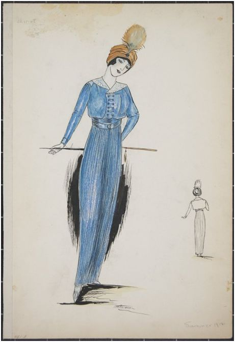 Image of Brooklyn Museum libraries and archives: Fashion and Costume Sketch Collection, 1912-1950
