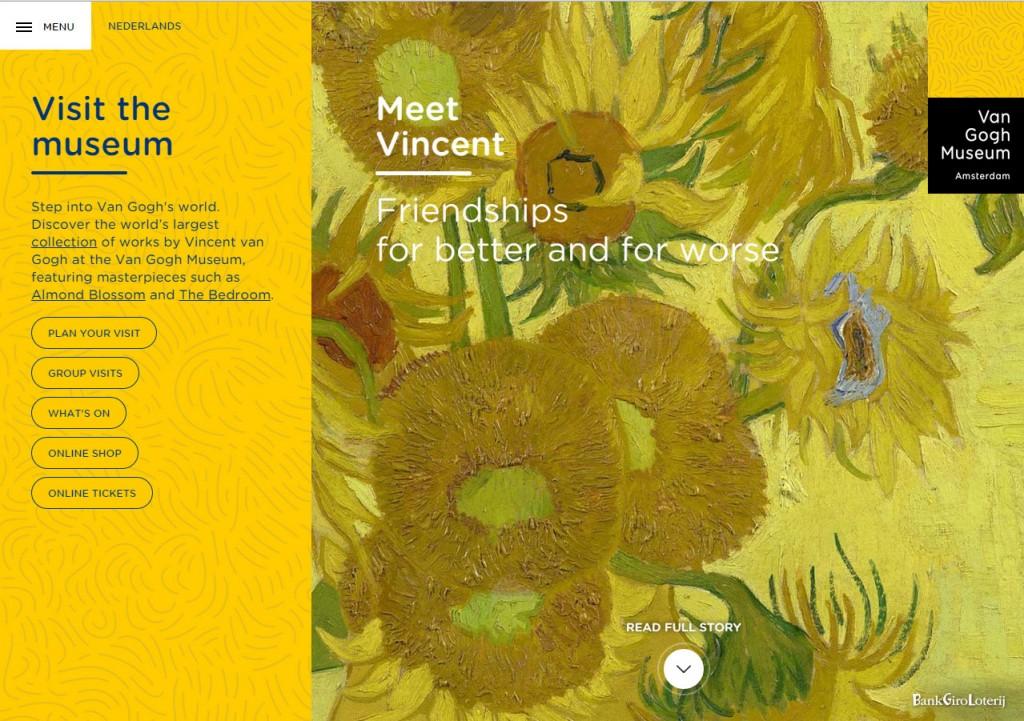 Van Gogh Museum homepage