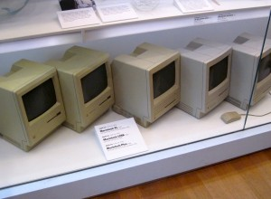 Fig. 1 Apple Macintoshes on display at Museum of Modern Art in 2011. Photo by flickr user j.s. Clark