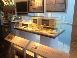 Fig. 2 Apple Macintosh (center) on display at Computer History Museum in 2013. Photo by author