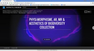 Physimorphisme, AR, MR & Aesthetics of Biodiversity Collection